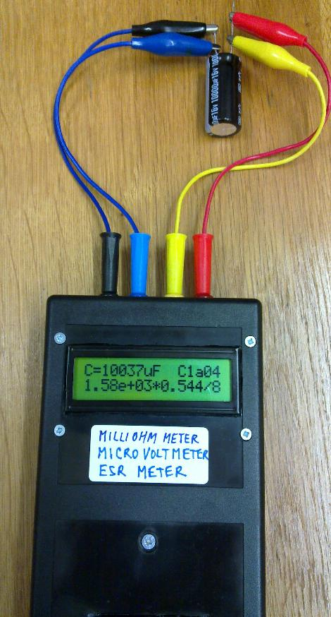 Diy Esr Meter : Open hardware milliohmmeter microohmmeter microvoltmeter
