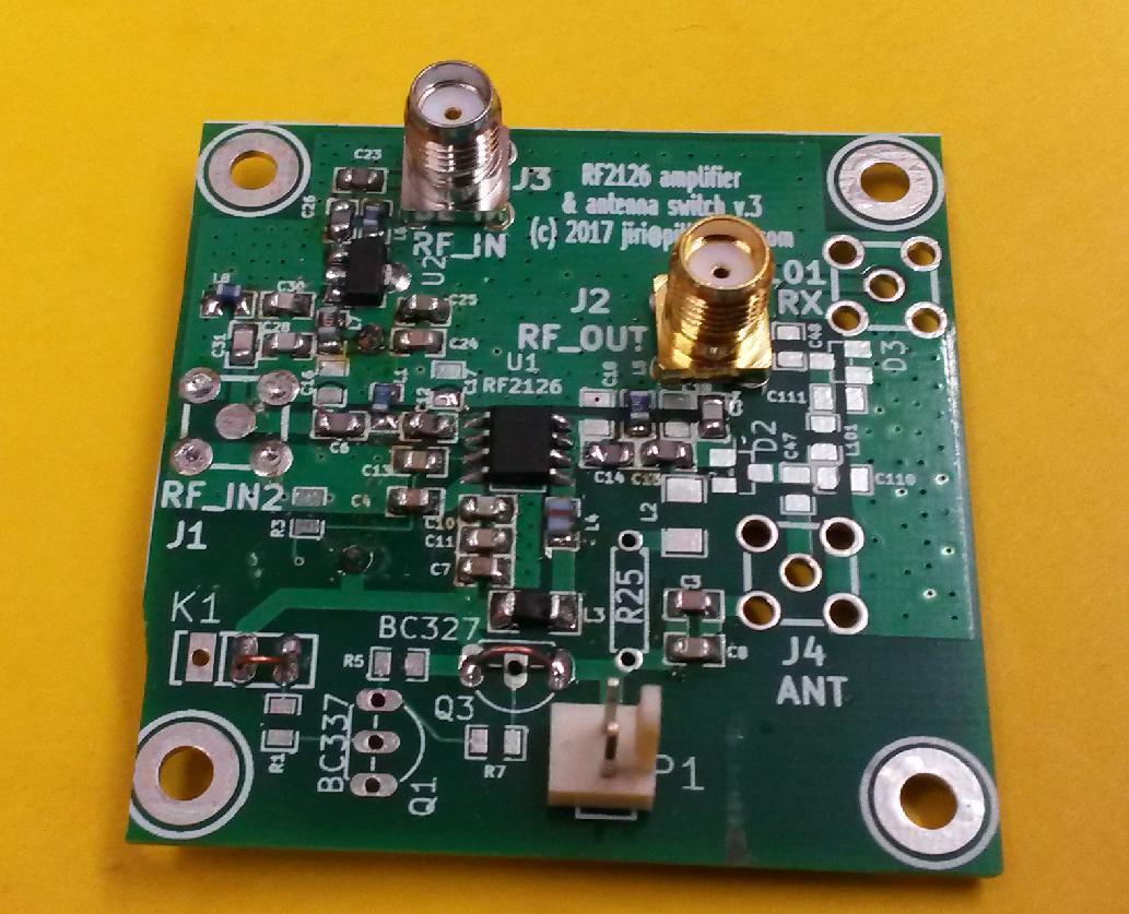Open hardware medium power RF amplifier with antenna switch